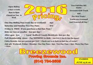 2016 BPG Pricing Flyer